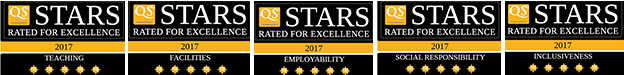 QS 5 Stars Rated for Excellence